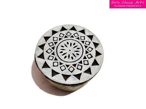 Indian Traditional Wood Stamp - Mandala, Swirl, Rangoli