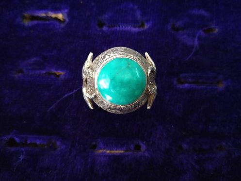 1950's Vintage Afghani Turquoise Ring
