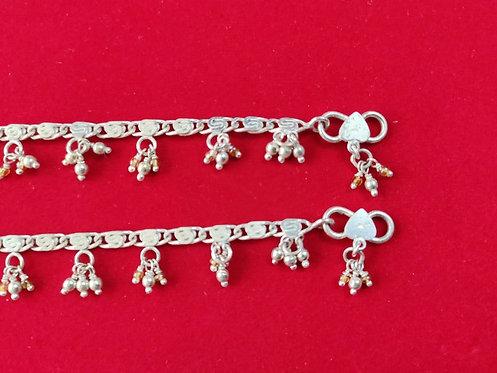 Caltac Anklet - Silver Bell Cluster Anklet