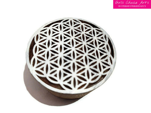 Round Shape Art Blocks For Printing and Handmade Gift Card Making