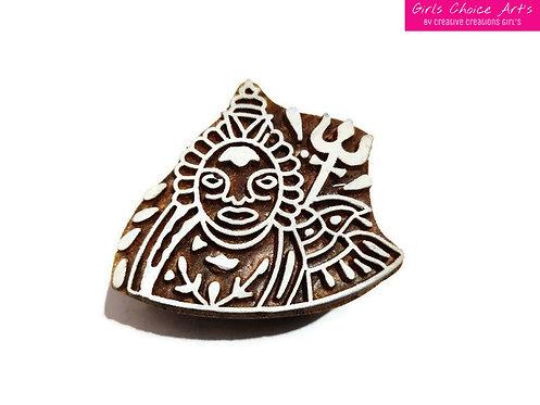 Lord Shiwa Wooden Block - A Rural Creative Creation - Shiwa Wooden Stamps