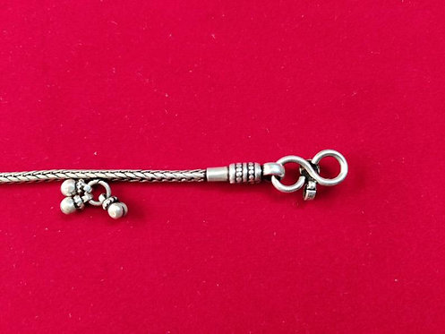 Silver Bell Cluster Anklet - Tribal Silver Jewellery