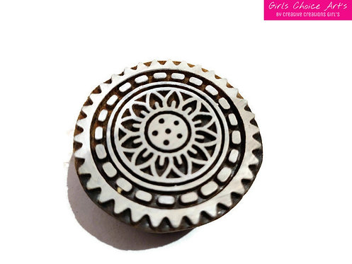 Indian Traditional Wood Stamp indian star, tile square, Abstract Wood Blocks
