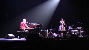 Marc Brochet et Mademoiselle Suzanne au festival St Benoit Swing Poitiers