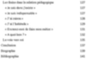 """Marc Brochet. Le livre """"Chanter une voie vers soi"""". Table des matières 2"""