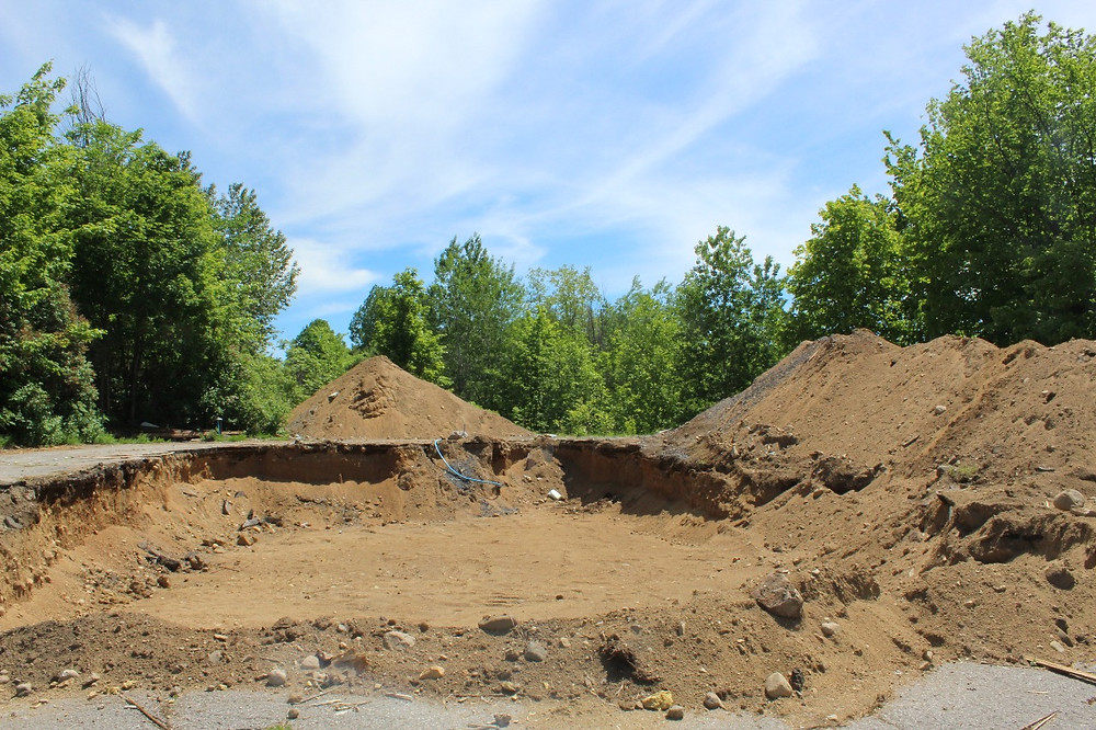 The only evidence at the site of St. Andrew's United Church in Cantley is this hole in the ground where the church stood for nearly 150 years. Stuart Benson photo