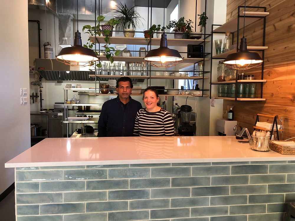 Surinda Singh and Christine Fletcher are husband and wife chef-owners of the Last Train to Delhi Express, which is open in Old Chelsea. Photo courtesy Hattie Klotz