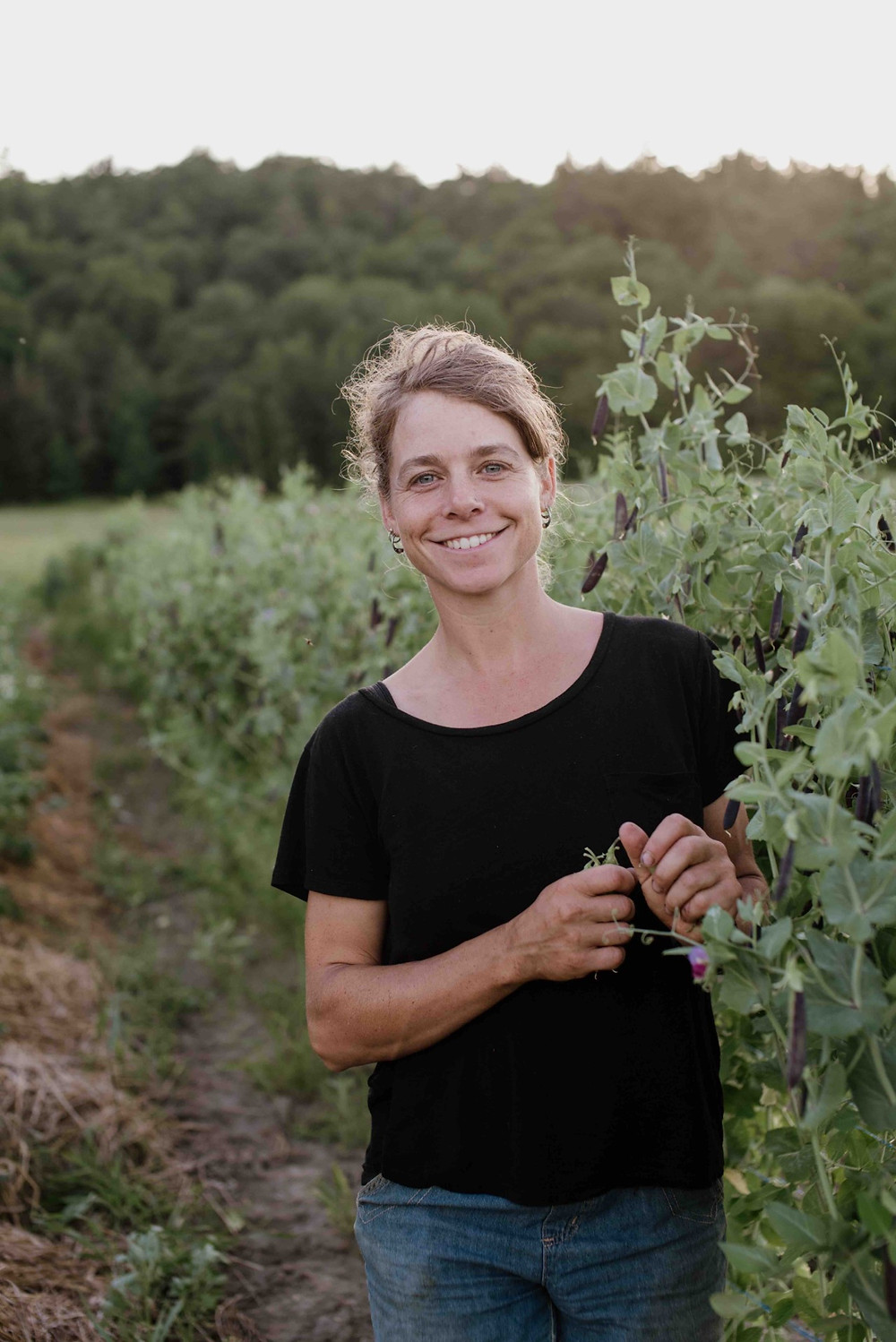 This is Northern Seeds owner Catherine Wallenburg's ninth season growing and selling seeds. She used to only sell to other seed companies, but she launched her company in Farrellton last year to sell directly to gardeners. Anne-Marie Laplante photo courtesy Northern Seeds