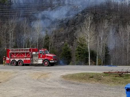 Burn turns into bush-fire