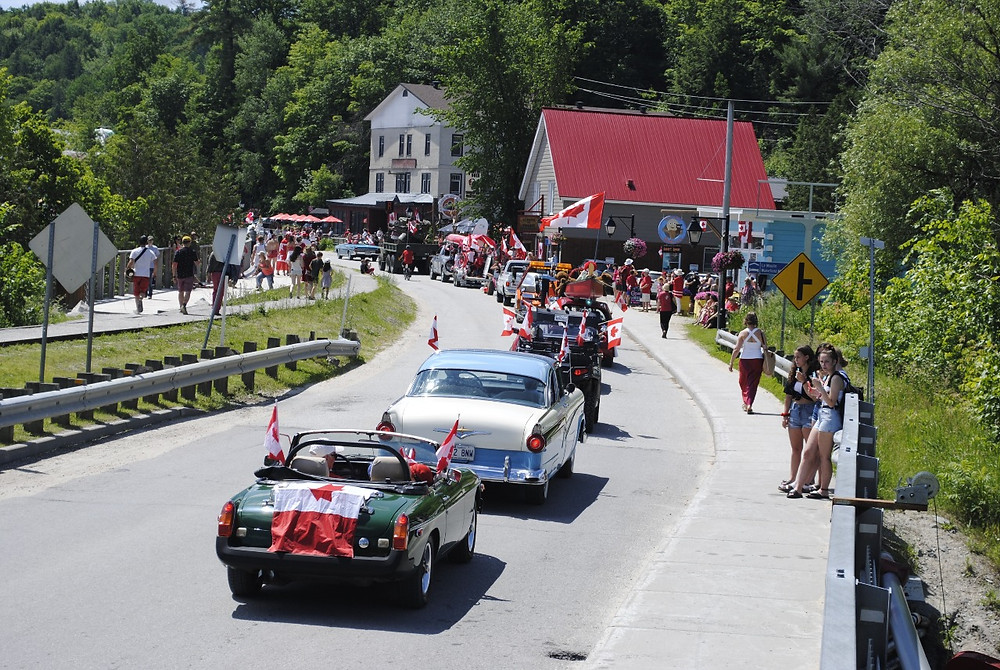 Canada Day in Wakefield usually looks like this, vehicles packed with people driving down Wakefield's main drag past crowds of onlookers, but not this year. The event this year is going digital because of the COVID-19 pandemic. Low Down file photo