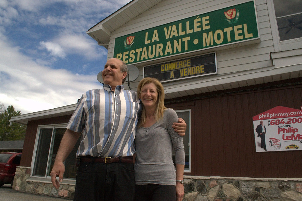 La Vallée Restaurant & Motel owners Dan Faasen and Odette Larocque Faasen. Their last day of business is March 26. Low Down file photo