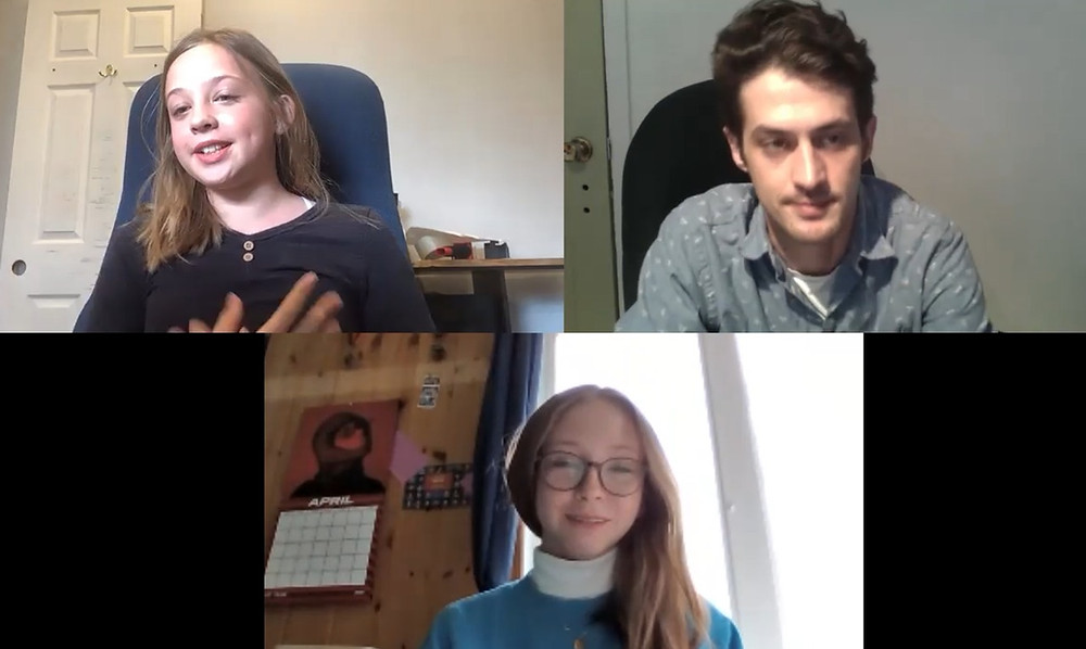 Mairi Gillis(middle) and Anabellla Douglas wanted to make sure The Low Down included all perspectives in its reporting on the Centre Wakefield La Pêche skatepark, and shared their experiences of being harassed, catcalled, and bullied by the older boys and young men with reporter Stuart Benson. Zoom screenshot