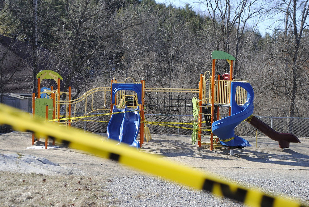 Starting May 11, sights like this, a Wakefield Elementary School playground structure covered in police tape, may soon be a thing of the past. Low Down file photo