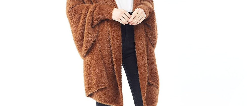 Eyelash Shrug Cardigan - Camel