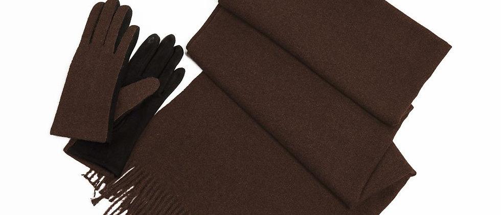 Soft Basic Cashmere Blend Scarf-Mocha