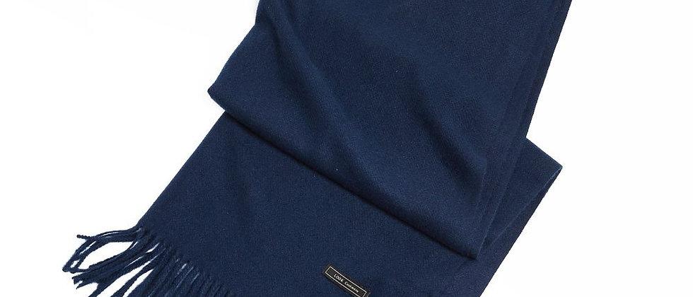 Soft Basic Cashmere Blend Scarf-Navy