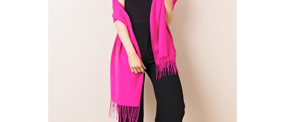 Pashmina - Viscose Bamboo Blend - Fuchia Pink
