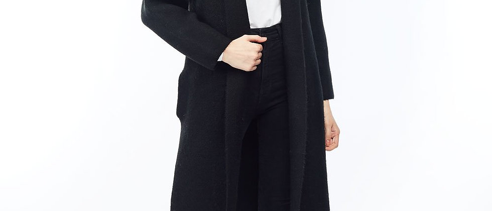 Basic Shawl Cardigan - Black