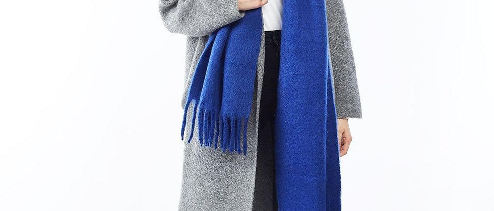 Collared Basic Coatigan - Grey
