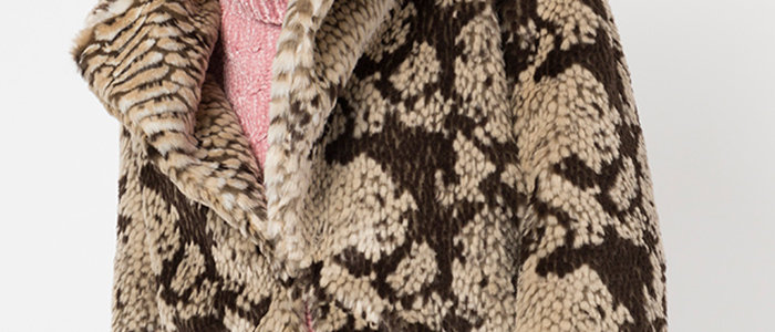 Cressida Coat -Snakeskin Print