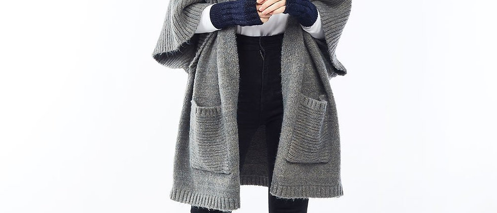 String Wool Cardigan Grey