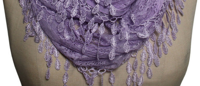 Butterfly Scarf - Multi-Styling Scarf - Lavender Lace