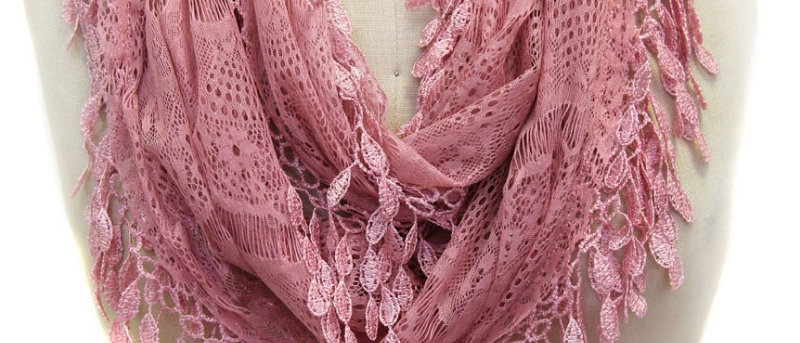 Butterfly Scarf - Multi-Styling Scarf - Dusty Rose Lace