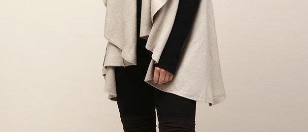 POPAM139-Utility Convertible Vest/Shawl - Grey