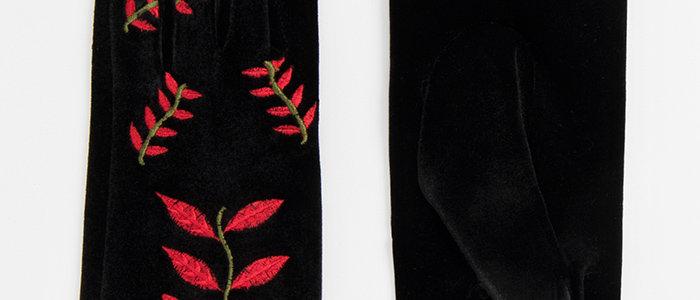 Hattie Glove – Black/Red
