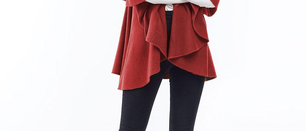 POPSM139 Utility Convertible Vest/Sahwl - Christmas Red