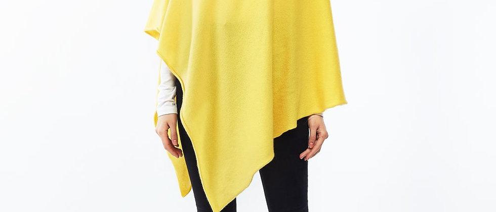 Premium Cashmere Poncho - Sunshine Yellow