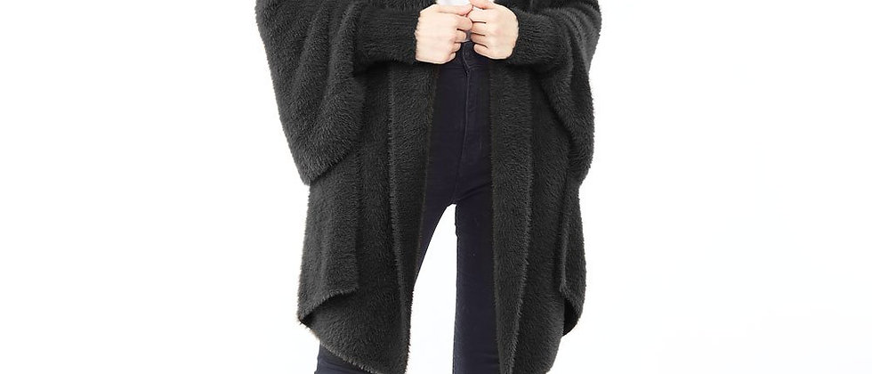 Eyelash Shrug Cardigan - Black