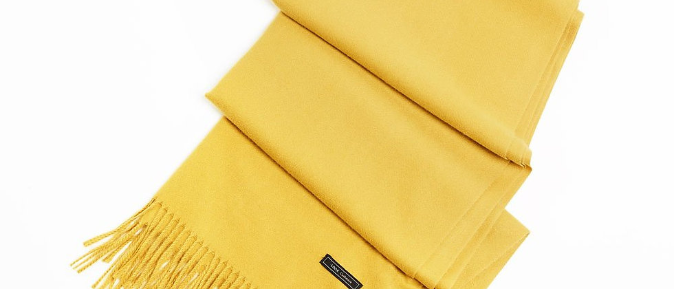 Soft Basic Cashmere Blend Scarf-Yellow