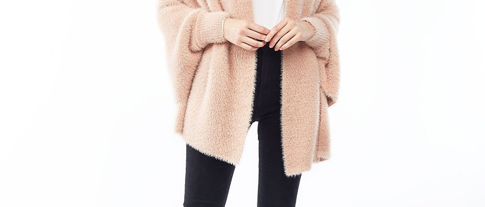 Eyelash Shrug Cardigan - Blush