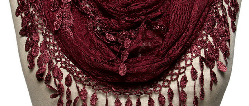 Butterfly Scarf - Multi-Styling Scarf - Burgundy Lace