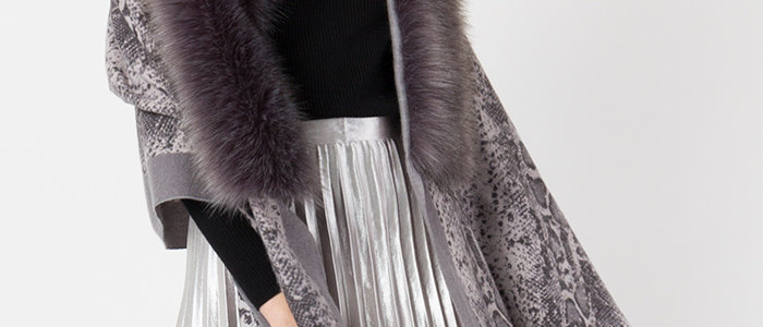 Clancy Scarf With Faux Fur Trim