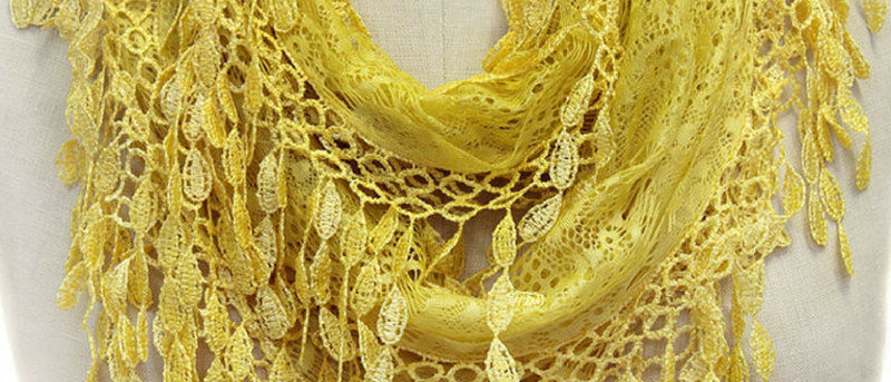 Butterfly Scarf - Multi-Styling Scarf - GoldenRod Lace