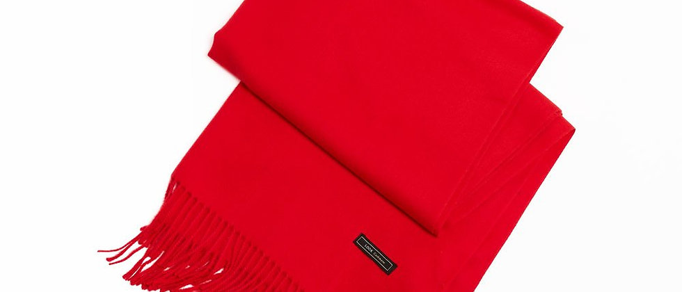 Soft Basic Cashmere Blend Scarf-Red