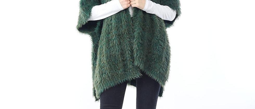 Eyelash Knit Cardigan - Green