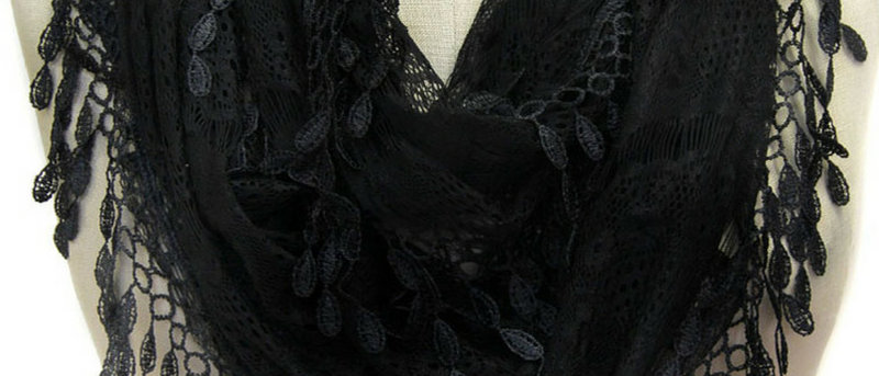 Butterfly Scarf - Multi-Styling Scarf - Black Lace