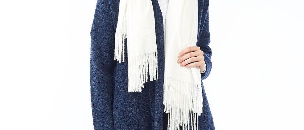 Soft Basic Cashmere Blend Scarf-White