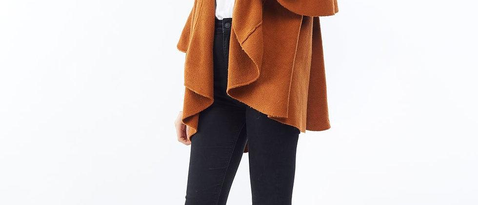 POPSM139 Utility Convertible Vest/Sahwl - Cinnamon