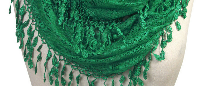 Butterfly Scarf - Multi-Styling Scarf - Hunter Green Lace