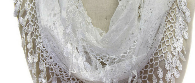 Butterfly Scarf - Multi-Styling Scarf - White Lace