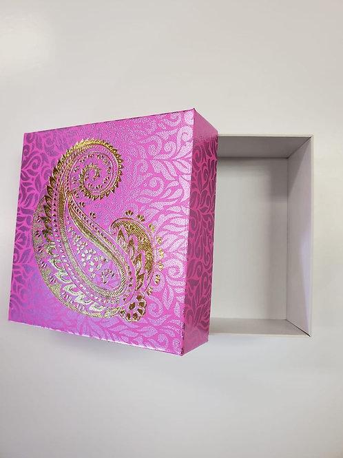 Light Pink Paisley 4pc Fancy Box