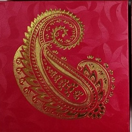Red Paisley 4pc Fancy Box