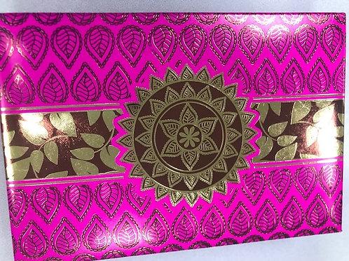 Fushia Maroon Leaf 2LB Fancy Box
