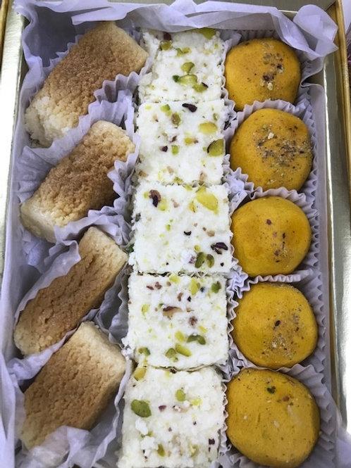 Milk Cake + Kalakand + Besan Ladoo  (Item M15)