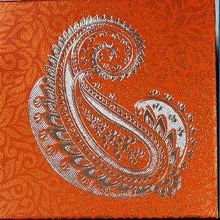 Orange Paisley 4pc Fancy Box