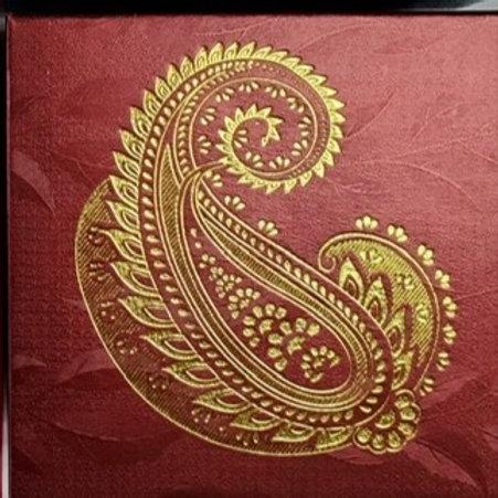 Maroon Paisley 4pc Fancy Box